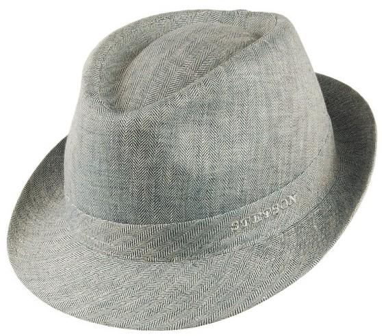 STETSON Trilby bézs lenvászon nyári kalap 5c893ad2f8