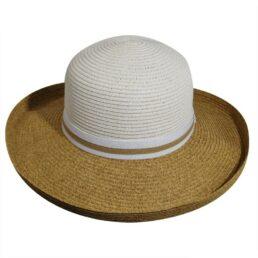 BETMAR Perla fehér női szalma kalap