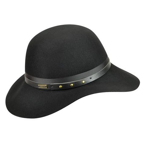 Betmar Hayden női fekete gyapjú kalap  a86e198705