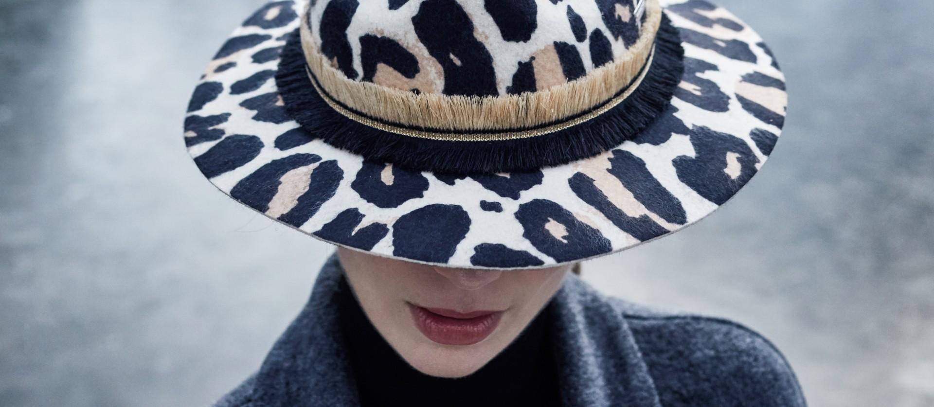 Seeberger leopárdos gyapjú kalap  b37f1ed948