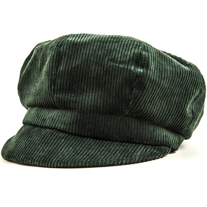 Kotrás zöld kordbársony női cikkes sapka  ee7e18d557