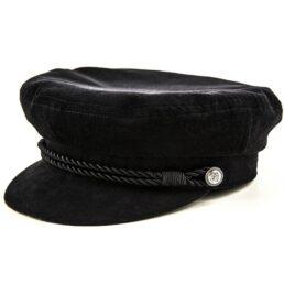 Kotrás Baker Boy Cap női franciabársony fekete sapka a9f24fdfe7