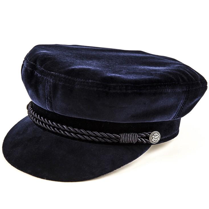 Kotrás Baker Boy Cap női franciabársony kék sapka  2a6ef0302b