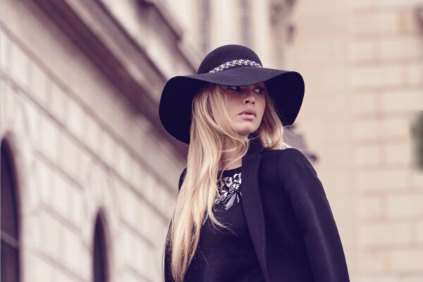 seeberger női fekete kalap