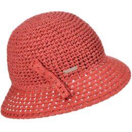 seeberger horgolt szalma kalap piros