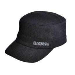Kangol Textured wool army cap ifor sapka fekete