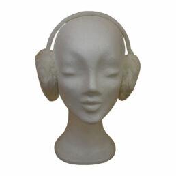 Fülvédő - fehér műszőr fülvédő