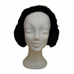 Fülvédő - fekete nyúlszőr fülvédő