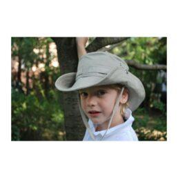 KOTRÁS Drapp vászon cowboy kalap nyári gyerek sapka