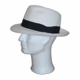 TONAK  fehér fekete pántos férfi nyúlszőr kalap