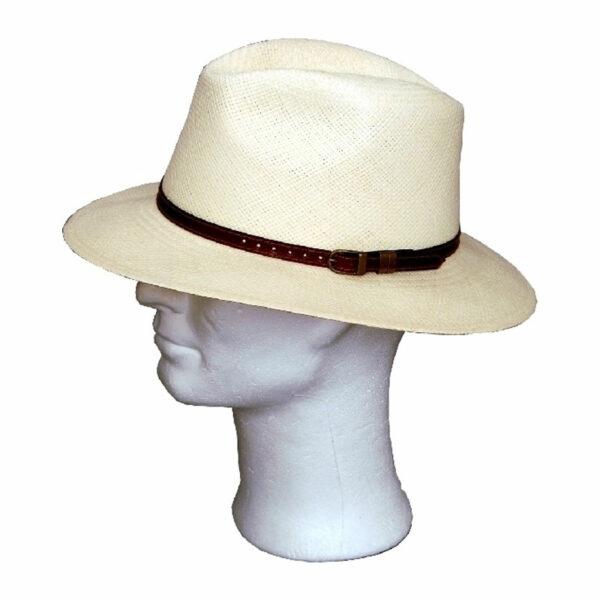 Kalap -   bőr pántos traveller panama kalap