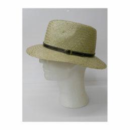 Kalap -  bőr pántos traveller férfi szalma kalap