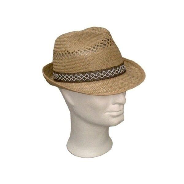Kalap -  kisszélű férfi szalma kalap