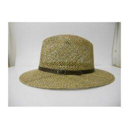 Kalap - bőrpántos traveller 8803 férfi szalma kalap