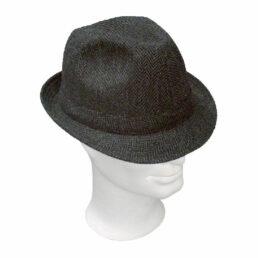 KOTRÁS szürke halszálkás bécsi szövet kalap