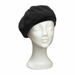 KOTRÁS fekete bársonnyal női barett sapka