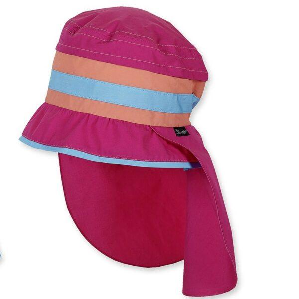 UV50+ szűrős pink csíkos cappy nyári gyerek sapka