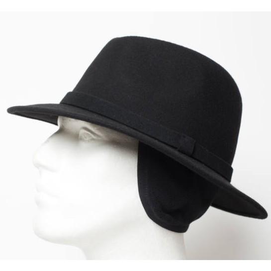 füles férfi fekete gyapjú kalap
