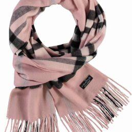 fraas kockás rózsaszín sál