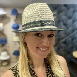 seeberger női szalma kalap trilby