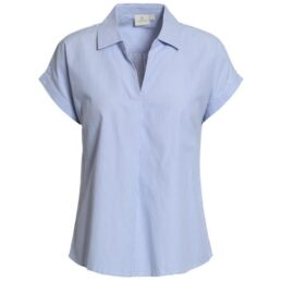 kék csíkos női ing
