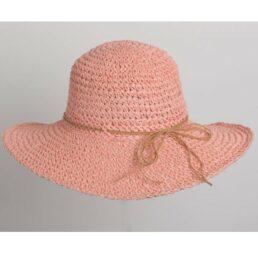 női horgolt szalma kalap