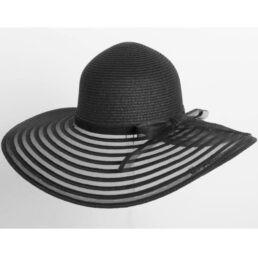 fekete női óriás szalma kalap