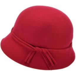 seeberger gyapjú kalap piros