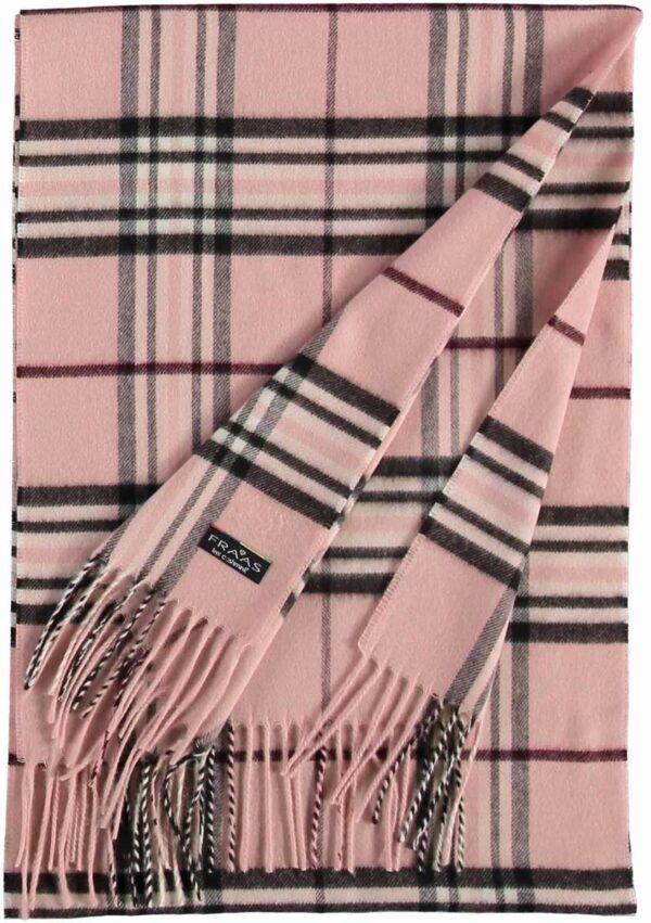 fraas cashmink sál rózsaszín kockás3
