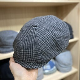 kotrás szürke newsboy cap