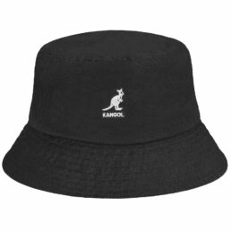 kangol washed bucket hat fekete