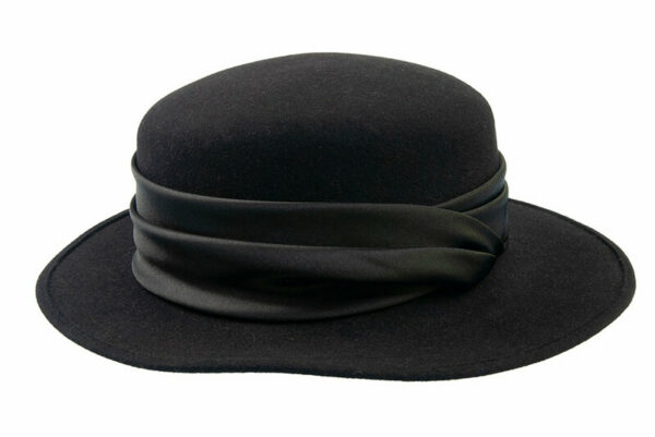tonak női nyúlszőr kalap fekete
