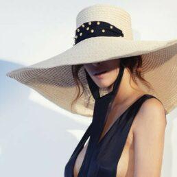 seeberger XXL karimás női szalma kalap