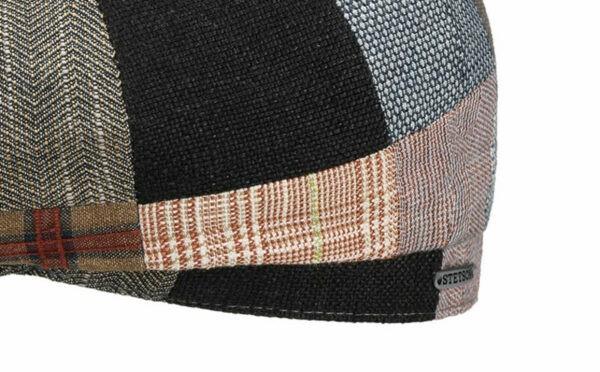 stetson,linen-patchwork-newsboy-cap