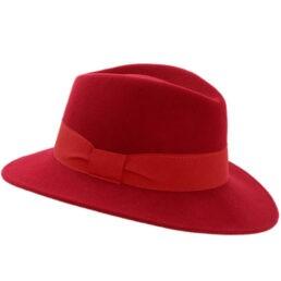 női gyapjú kalap piros