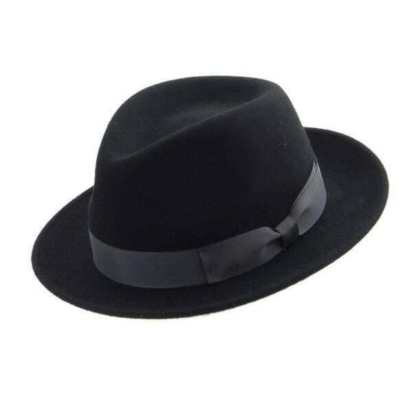 faustmann fekete gyapjú kalap