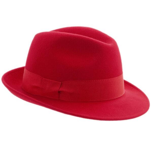 faustmann gyapjú kalap piros