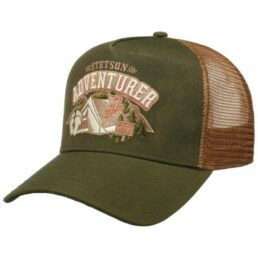 Stetson Trucker Cap Camping Yeti zöld